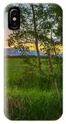 Sunset Over Farmers Field IPhone Case