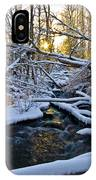 Sunset Over Snowy Mammoth Creek IPhone Case