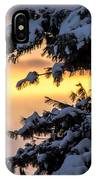Sunset Through The Snowy Branches IPhone Case