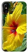 Sunshine Yellow Hibiscus With Red Throat IPhone Case