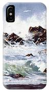Surf At Lincoln City IPhone Case
