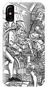 Surgeon Performing An Amputation. Woodcut From An Edition Of Hans Von Gersdoffs Feldtbuch Der Wundartzney, Strassburg, 1540 IPhone Case