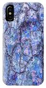 Surreal Patterned Bark In Blue IPhone Case