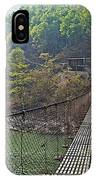 Suspension Bridge Over The Seti River In Nepal IPhone Case