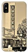 Sutter Theater IPhone Case