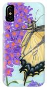 Swallowtail Butterfly And Butterfly Bush IPhone Case
