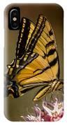 Swallowtail On Milkweed IPhone Case