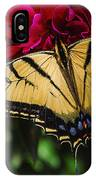 Swallowtail On Peony IPhone Case