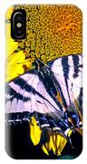 Swallowtail Sunflower IPhone Case