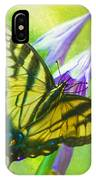 Swallowtail Visits Hosta Flowers IPhone Case