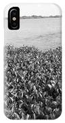 Swamp Hyacinths Water Lillies Black And White IPhone Case