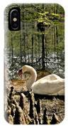Swan Lake Watercolor IPhone Case