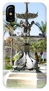 Swan Fountain In Lakeland IPhone Case