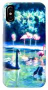 Swans And Flamingos IPhone Case
