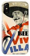 Swedish Poster #1   Viva Villa 1934-2008 IPhone Case