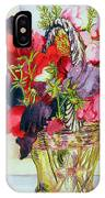 Sweet Peas In A Vase IPhone Case
