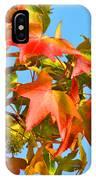 Sweetgum Leaves In Autumn IPhone Case