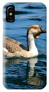 Swimming African Brown Goose IPhone Case