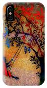 Swinging On A Tree IPhone Case