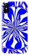 Swirling Blue Zebra Kaleidoscope  IPhone Case