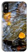 Swirling Stream Of Leaves  IPhone Case