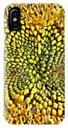 Swirling Sunflower Bloom IPhone X Case