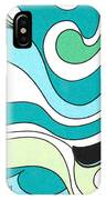 Swirls Blue Green IPhone Case