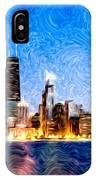 Swirly Chicago At Night IPhone Case