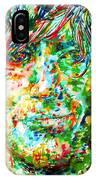 Syd Barrett - Watercolor Portrait IPhone Case