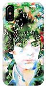 Syd Barrett Watercolor Portrait.1 IPhone Case