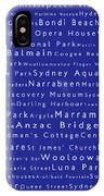 Sydney In Words Blue IPhone Case