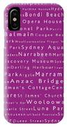 Sydney In Words Pink IPhone Case