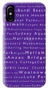 Sydney In Words Purple IPhone Case