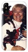 Sylver Short With Her Miniature Pinschers Christmas 2002-2008 IPhone Case