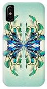 Symmetrical Orchid Art - Blues And Greens IPhone Case
