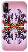 Symmetrical Orchid Art - Reds IPhone Case
