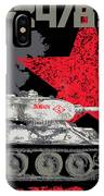 T34/85 Russian Tank IPhone Case