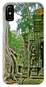 Ta Prohm And Tree Invasion In Angkor Wat Archeologial Park Near Siem Reap-cambodia IPhone Case