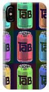 Tab Ode To Andy Warhol Black IPhone Case