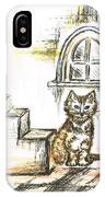 Tabby Waiting IPhone Case