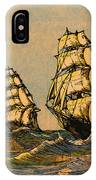 Taeping And Ariel, British Tea Clippers IPhone Case