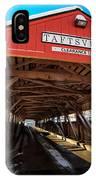 Taftsville Covered Bridge In Vermont In Winter IPhone Case