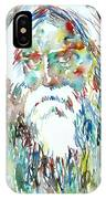 Tagore Watercolor Portrait IPhone Case