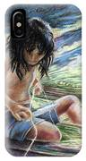 Tahitian Boy With Knife IPhone Case