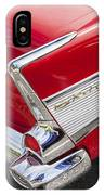 Tail Fins Are In 1957 Chevy IPhone Case