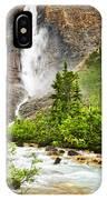 Takakkaw Falls Waterfall In Yoho National Park Canada IPhone Case