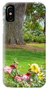 Take A Seat - Beautiful Rose Garden Of The Huntington Library. IPhone Case