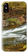 Take Me To The Other Side Beaver's Bend Broken Bow Lake Flowing River Fall Foliage IPhone Case