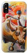 Taking On The Wall Street Bull IPhone Case