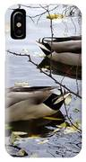 Taking Opposite Directions IPhone Case